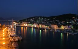 Trogir. Beautiful cityscape at night in Croatia Royalty Free Stock Images