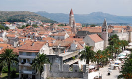 Trogir. Aerial view of the old town of Trogir, Croatia, Adriatic Sea Stock Photography