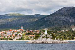 Trogir area, Croatia view from the sea Royalty Free Stock Images