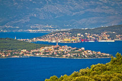 Trogir bay Adriatic archipelago view Stock Photo
