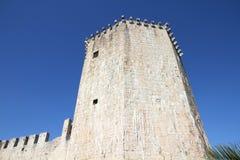 Trogir castle. Croatia - Trogir in Dalmatia (UNESCO World Heritage Site). Kamerlengo Castle Stock Photography