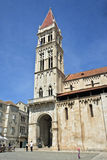Trogir Church Tower and Plaza Stock Photography