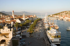 Trogir cityscape in Croatia. Trogir is a historic town on the Adriatic coast. Its historical center is enrolled on the UNESCO list of World Heritage Sites Stock Photos