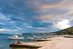 Trogir, coastal landscape and marina, Croatia Royalty Free Stock Photo