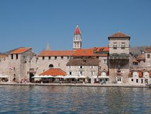 Trogir, Croatia. JULY 10: Tourists sightseing Trogir UNESCO World Heritage Site, is one of the most visited places in Croatia, on July 10, 2011 in Stock Image