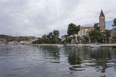 Day view of the lagoon of Trogir city in Croatia royalty free stock photos