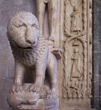 Trogir, Croatia,Cathedral of St. Lawrence, detail of the entranc Royalty Free Stock Images