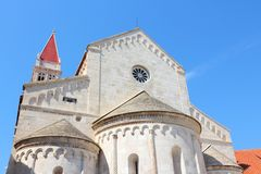 Trogir, Croatia. Croatia - Trogir in Dalmatia (UNESCO World Heritage Site). Famous cathedral Stock Image