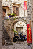 Trogir, Croatia - picturesque corner on old town Royalty Free Stock Image