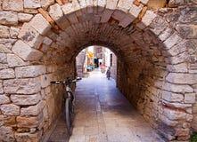 Trogir Croatia - stone portal in old town Royalty Free Stock Photos