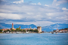 Trogir, Croatia view from the sea Royalty Free Stock Photography