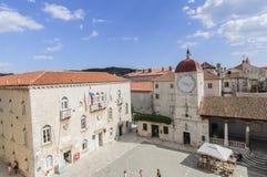 Trogir, dalmatia, croatia, europe, the central square Stock Photography