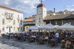 Trogir, dalmatia, croatia, europe, the central square Royalty Free Stock Photography
