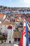 Trogir, dalmatia, croatia, europe, the clock tower and the public loggia Royalty Free Stock Photography