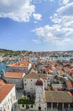 Trogir, dalmatia, croatia, europe, the clock tower and the public loggia Stock Photography