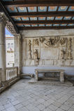 Trogir, dalmatia, croatia, europe, the public loggia Stock Photo