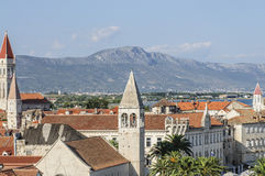 Trogir, dalmatia, croatia, europe, the view from above Royalty Free Stock Photos