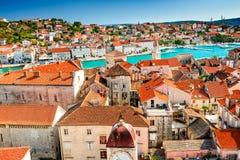 Trogir Dalmatia, Kroatien Arkivbild