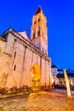 Trogir, fente, région de la Dalmatie de la Croatie Photographie stock
