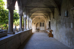 Trogir - gallery of old cloister Stock Images