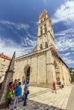 Trogir Kroatien Arkivfoton