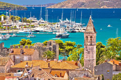 Trogir landmarks and turquoise sea view Royalty Free Stock Image