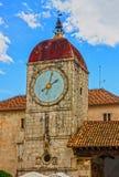 Trogir loggia and clock tower, Croatia Stock Photo