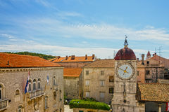 Trogir Loggia tower architecture, Croatia Stock Images