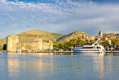 Trogir old citadel and waterfront view Royalty Free Stock Photography