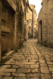 Trogir - old mediterranean aisle Royalty Free Stock Photography