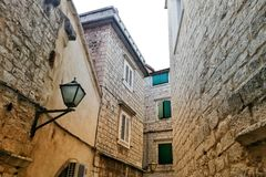 Trogir Old street stock photography