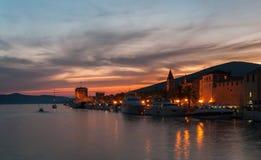 Trogir pir, Kroatien Arkivbild