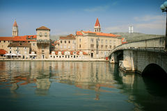 Trogir from the sea Royalty Free Stock Images