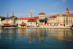 Trogir from the sea royalty free stock image