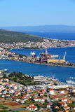 Trogir seaport Royalty Free Stock Images