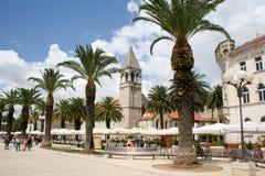 Trogir sikt av mitten av den gamla staden royaltyfria bilder