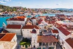 Trogir town, Croatia. Panoramic view, famous Croatian tourist destination. Dalmatian coast royalty free stock photos