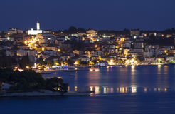 Trogir town at night Stock Images