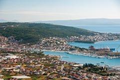 Trogir - une ville historique et un port Images libres de droits
