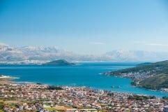 Trogir - une ville historique et un port Photo libre de droits
