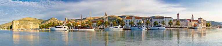Trogir UNESCO world heritage site panoramic Royalty Free Stock Image