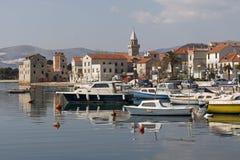 Trogir, vieux panorama de ville Photos libres de droits
