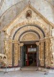 Trogirkathedraal, Kroatië stock fotografie