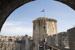 Trogirl - torretta del fortness Fotografia Stock Libera da Diritti