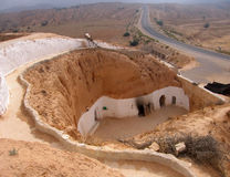 A troglodyte dwelling. In Tunisia Royalty Free Stock Images