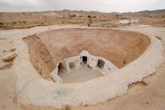 Troglodyte dwellings,Tunisia Stock Images