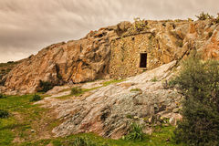Troglodyte house near Ostriconi in Corsica Royalty Free Stock Image