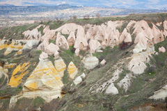 Troglodytehäuser in Capadocia Stockfoto