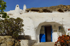 Troglodytes cave in Spain, the white house with a Royalty Free Stock Photo