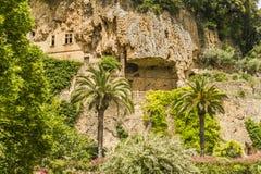 Troglodytes caves. In Villecroze Provence Stock Photo